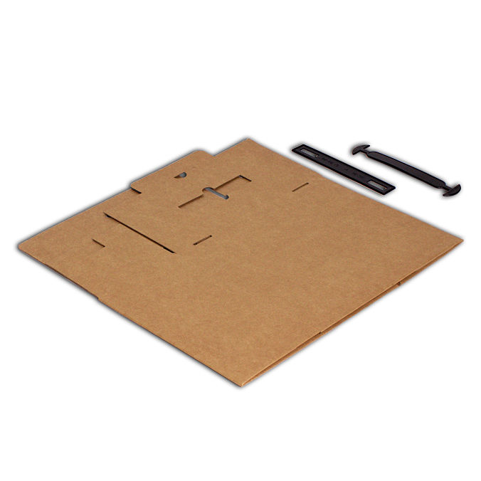 Caja de carton maletin para envios 280x130x234mm