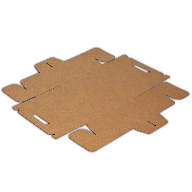 Troquel modelo caja de carton maletin para picnic plana 240x132x125mm