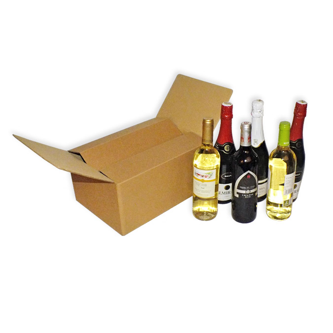 Caja para envíos 6 botellas con separadores