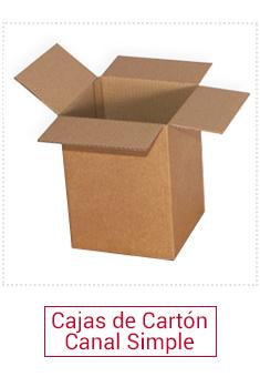 Cajas cartón canal simple