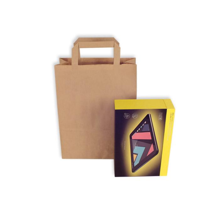 Bolsas de Papel Kraft Asa Plana 22 + 10 x 29 cm