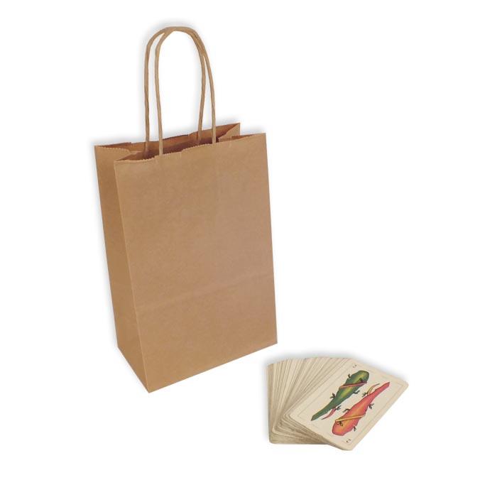Bolsas de Papel Kraft 14+8,5x21,5 cm. Mini
