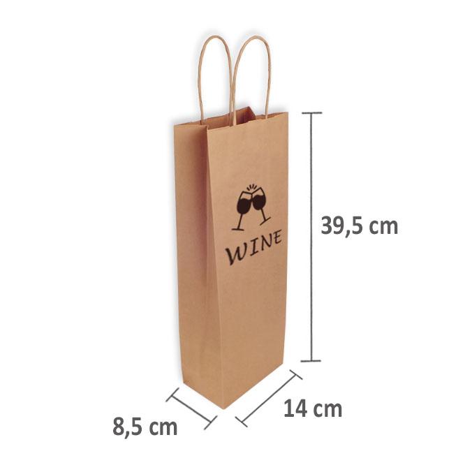 Bolsas de Papel Personalizadas 14+8,5x39,5cm