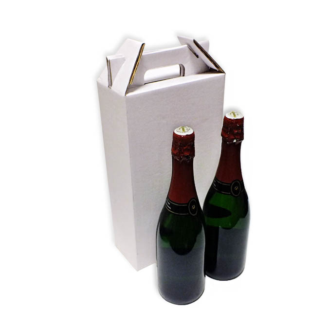 Caja de carton para transporte 2 botellas