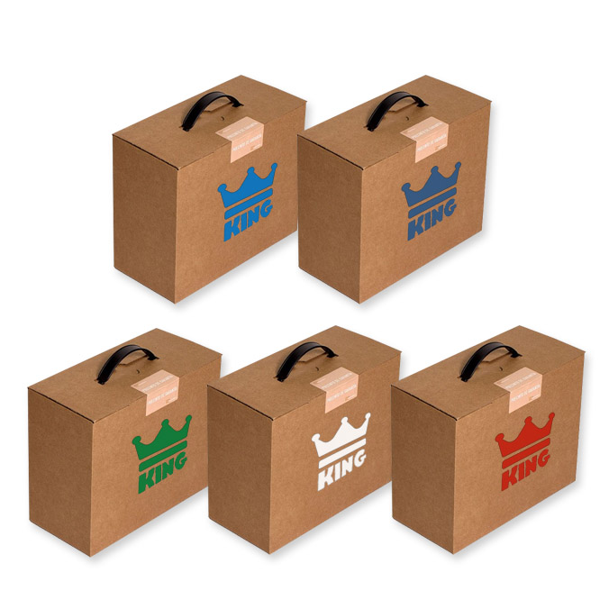 Caja maletín con asa para envíos de fácil montaje