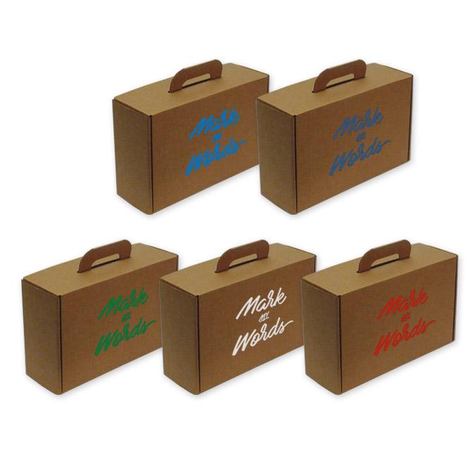 Caja Maletín con asa de cartón para envíos y transporte