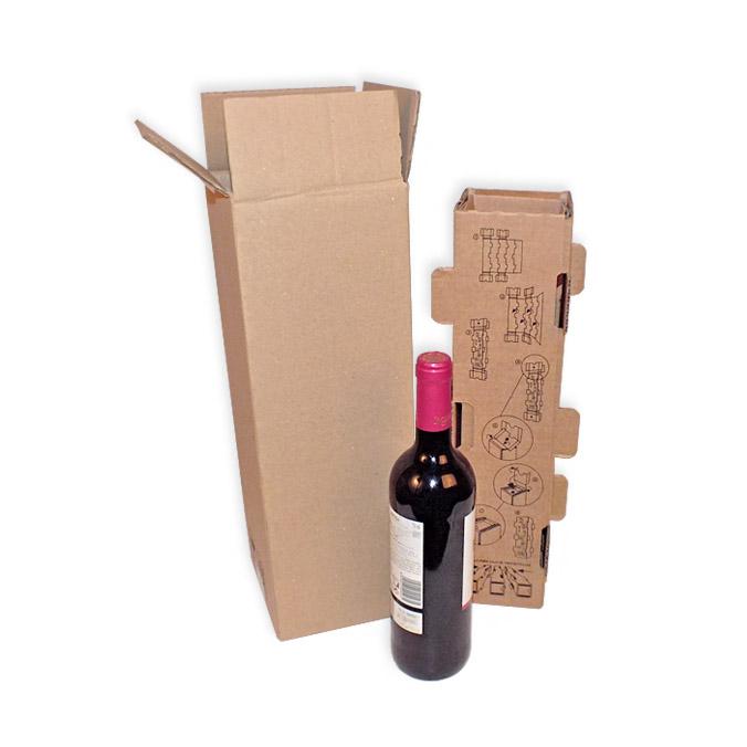 Caja para envío 1 botella con separador interior