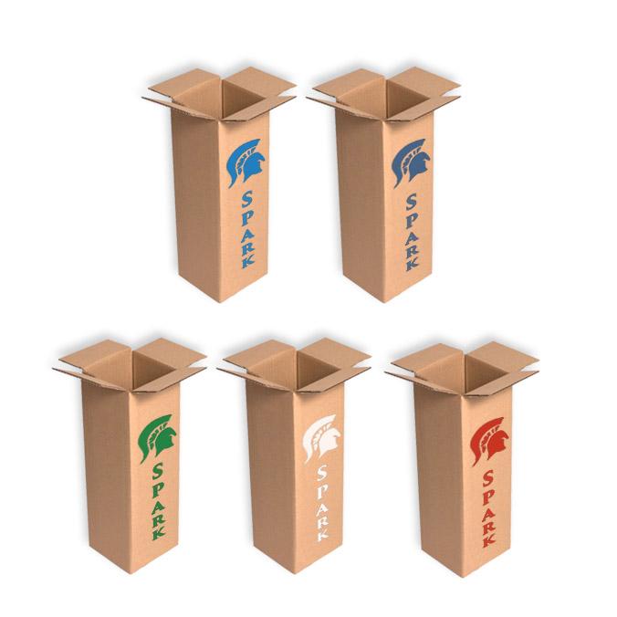 Caja de carton para envio 1 botella con separador