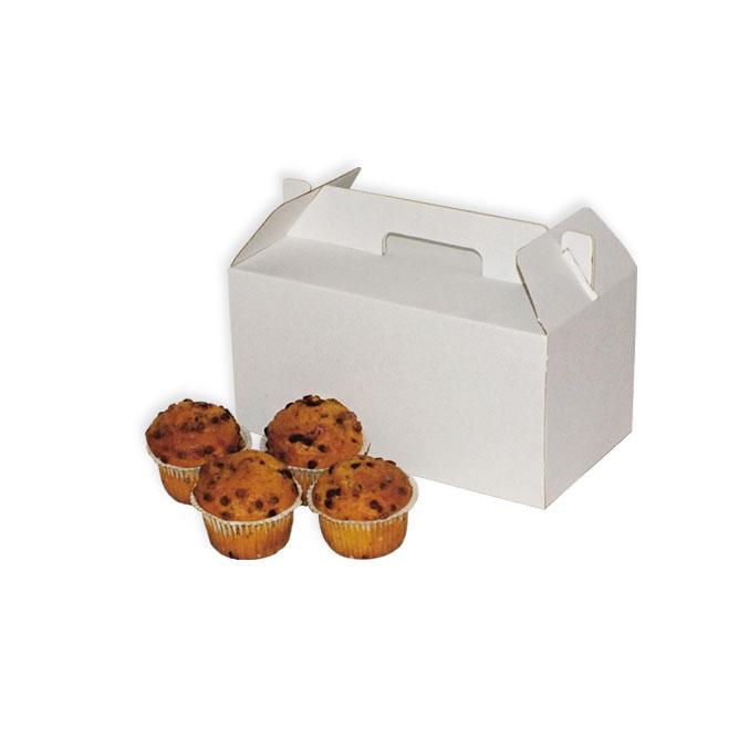 Caja de carton maletin para picnic blanca