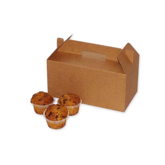 Caja de carton maletin para picnic 240x132x125mm