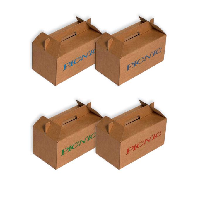 Caja maletín para picnic