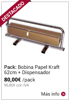 Pack Bobina Papel Kraft + Dispensador
