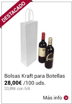 Bolsas de Papel Blancas 14+8,5x39,5cm