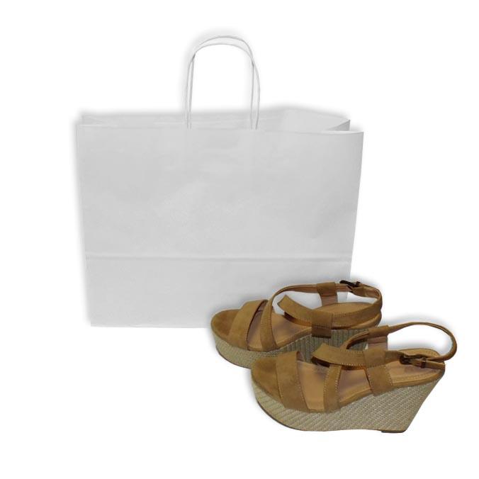 Bolsas de Papel Blancas 40+12x31 cm