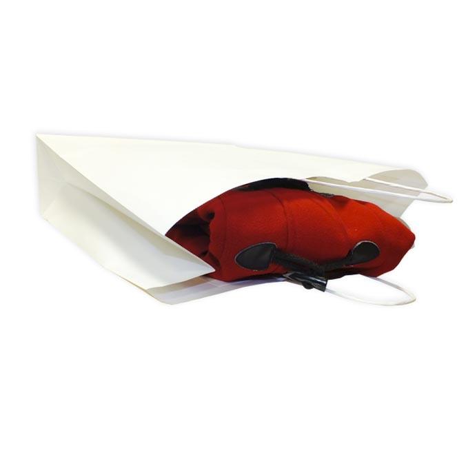 Bolsas de Papel Blancas 45+15x49 cm