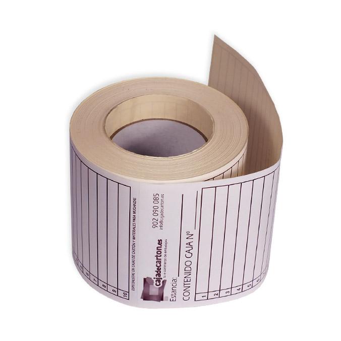 Etiqueta adhesiva para mudanzas