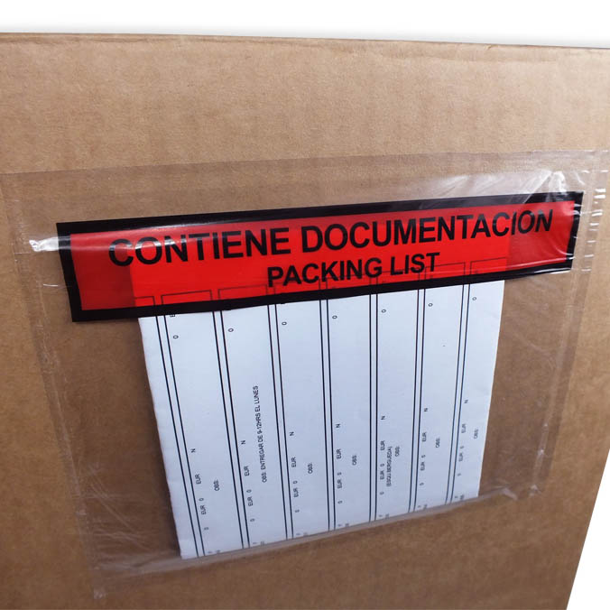 Sobre adhesivo Packing list Pequeno
