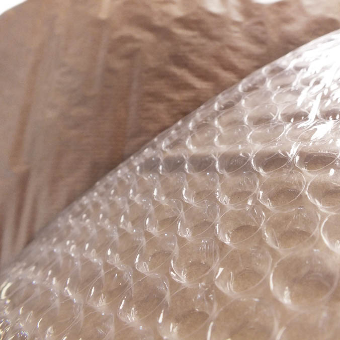 Plástico burbuja + Papel Kraft 160 M*2