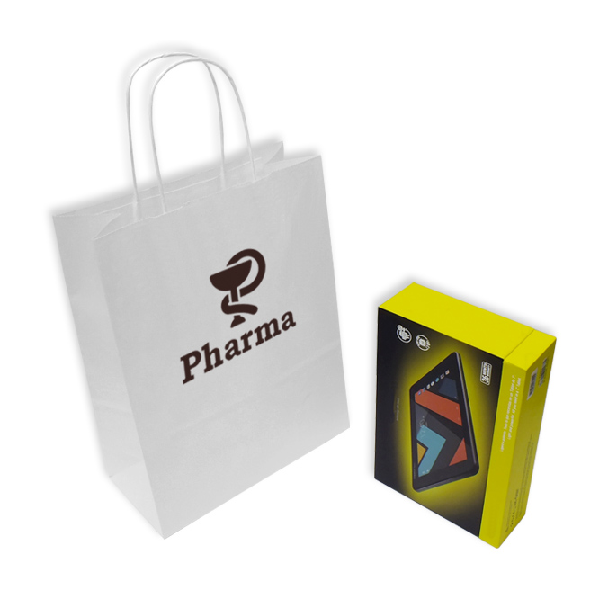 Bolsas de Papel Blancas Personalizadas 24+11x31cm