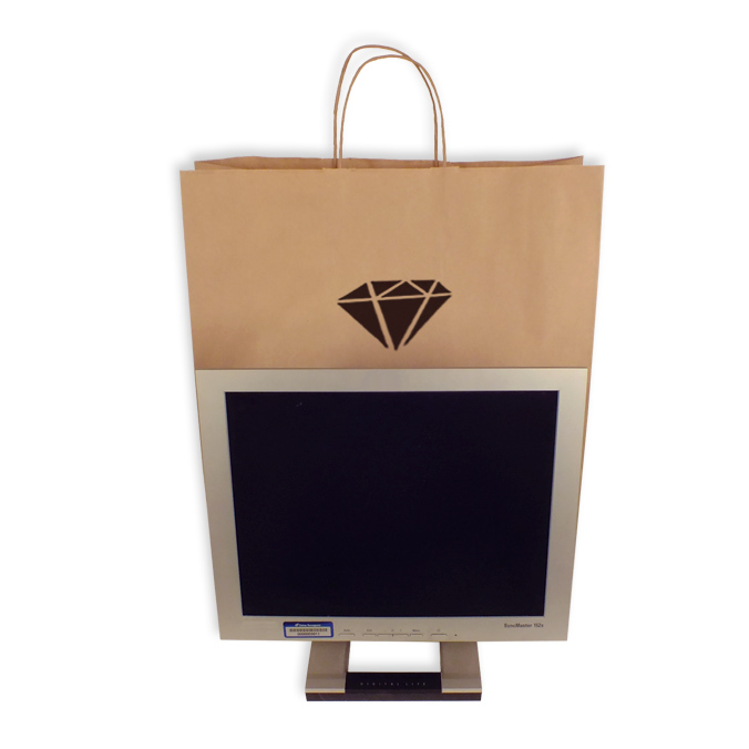 Bolsas de Papel Personalizadas 45+15x49cm