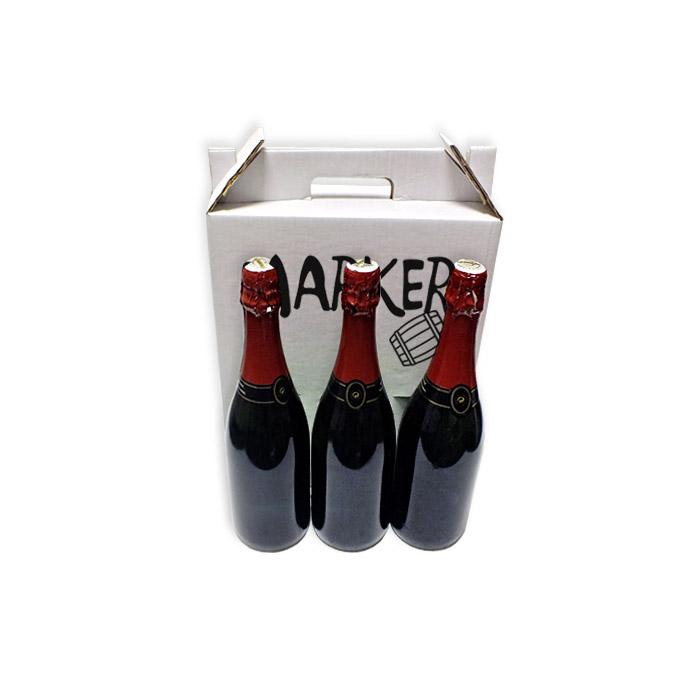 Caja para 3 Botellas Impresa