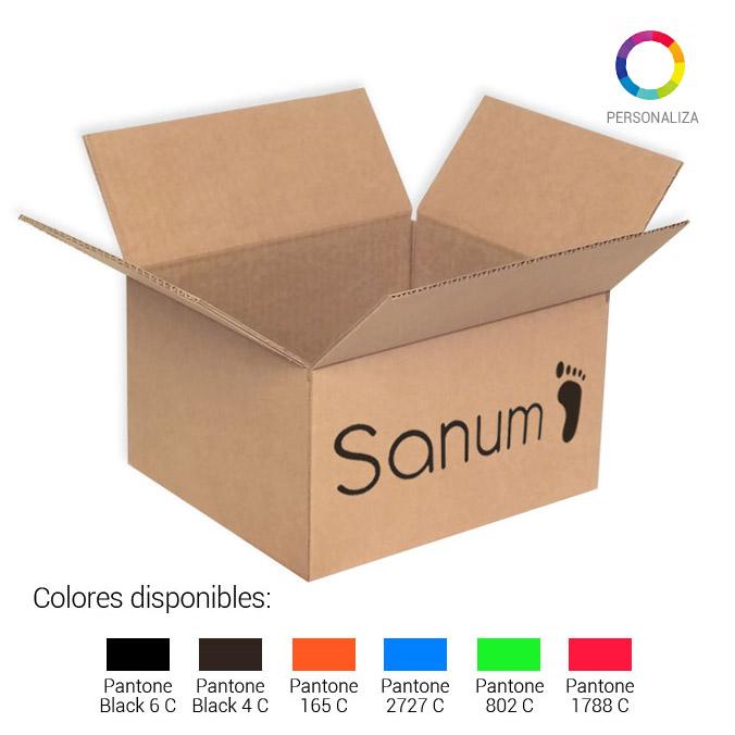 Caja de carton canal simple 260x220x147mm