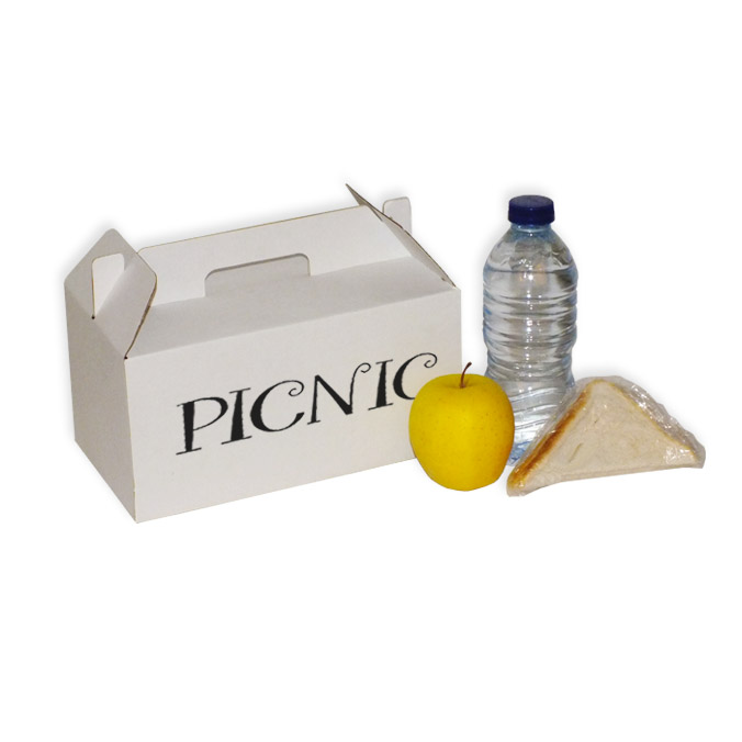 Caja Pícnic Blanca Impresa