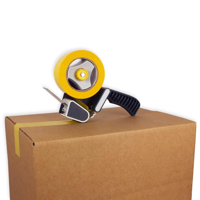 Pack cierra cajas PP 121 m. Cinta Adhesiva Amarilla