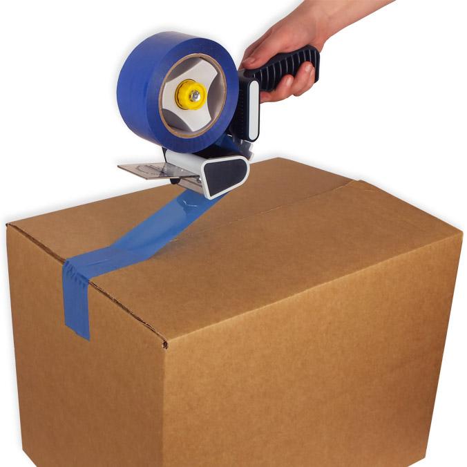 Pack cierra cajas PP 121 m. Cinta Adhesiva Azul
