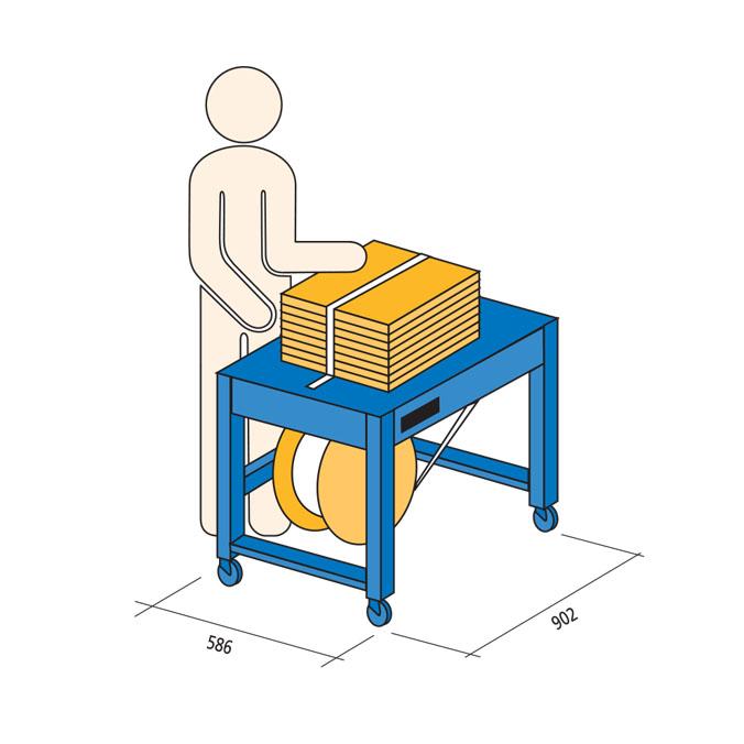 Flejadora semi-automática strapper 1
