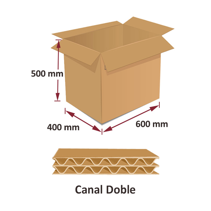 Cajas al por mayor canal simple 600x400x500mm