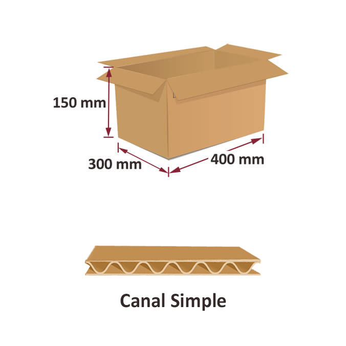 Cajas al por mayor canal simple 400x300x150mm
