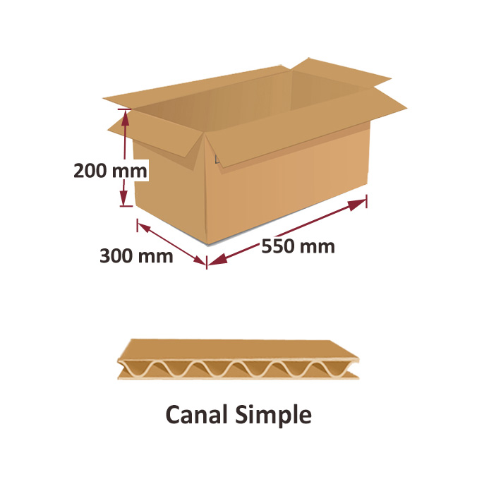 Cajas al por mayor canal simple 550x300x200mm