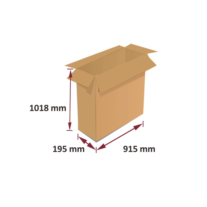 Caja de carton canal simple 915x195x1018mm