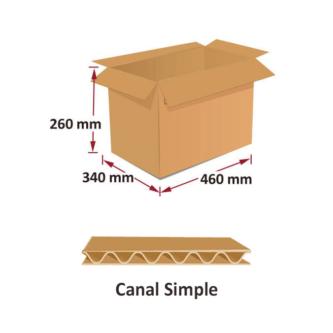 Cajas al por mayor canal simple 460x340x260mm