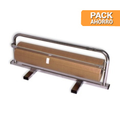Pack 1 Bobina de Papel Kraft 62cm + Dispensador