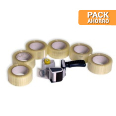 Pack cintas adhesivas cierra cajas polipropileno 48x66mt