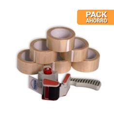 Pack cierra cajas PVC 66 m.