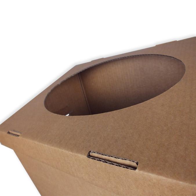 Papelera de cartón 380x280x720mm