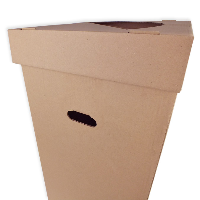Papelera de carton canal simple 400x400x800mm