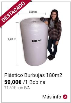 Plástico de Burbujas 180m2