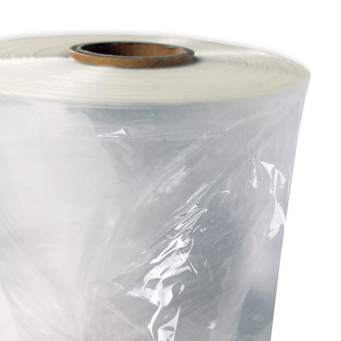 Tubo de plástico transparente para formar bolsas.
