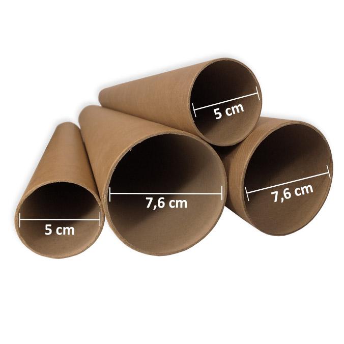 Tubos de carton compacto 76x1000mm