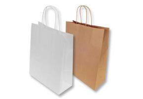 Bolsas de Papel Kraft y Blancas