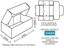 Troquel modelo 0426 caja de carton para envios 255x255x040mm