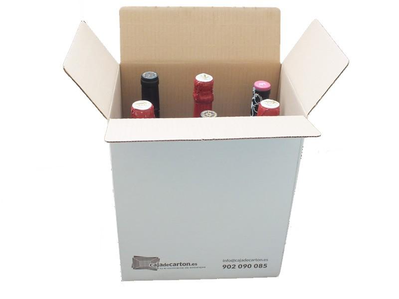 Cajas al por mayor canal simple 6 botellas