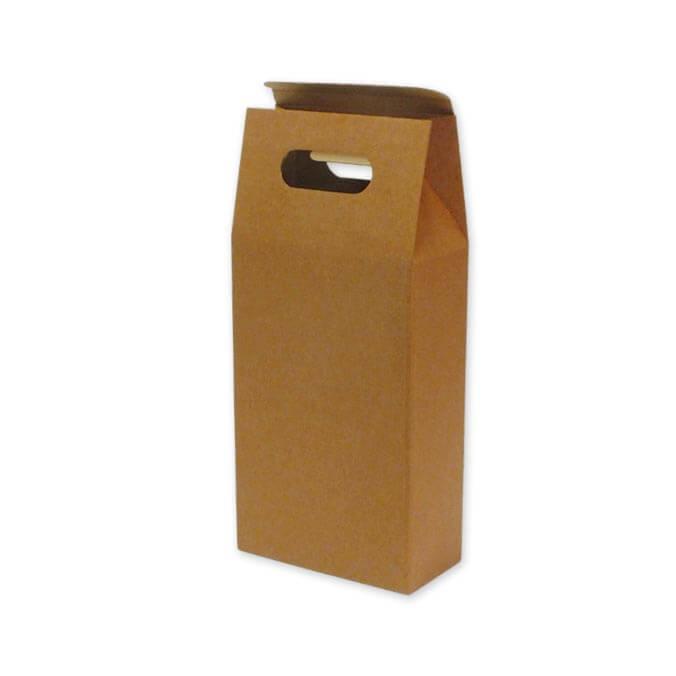 Caja para transporte 2 botellas con asa