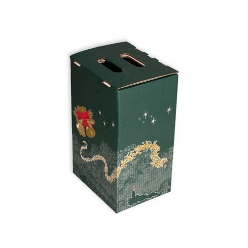 pack 20 cajas 4 botellas lote cajas de navidad para