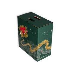 Caja de carton lote Navidad 6 botellas