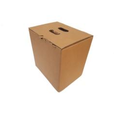 Caja de carton lote Navidad 9 botellas marron